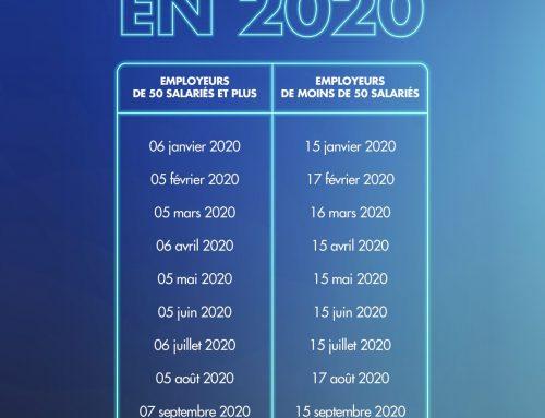 2020 : Date d'exigibilité de la DSN